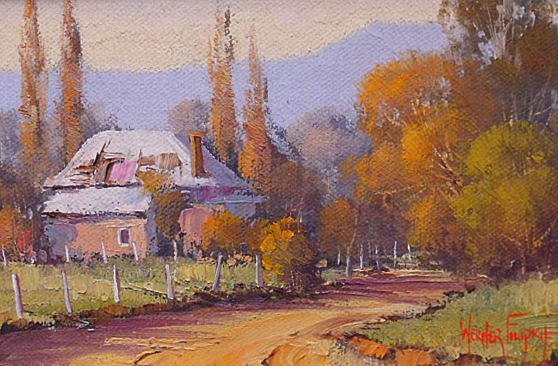 Tumut Australia  City pictures : Werner Filipich Original Oil Painting Tumut NSW Australia