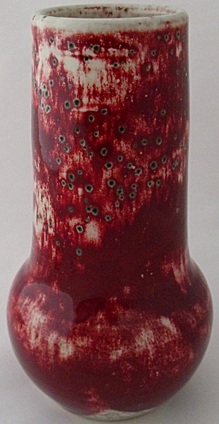 Ruskin Pottery High Fired Sang De Boeuf Flambe Vase